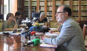 El presidente del Tribunal Superior de Justicia de Madrid, Francisco Javier Vieira Morante