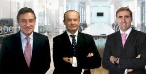 Jesús Gil, socio de BDO Valencia; Francisco Vallés, of counsel de BDO Valencia, y Javier Martínez, socio de BDO Valencia
