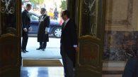 2015 - El Rey es recibido por Carlos Lesmes a su llegada al Palacio de Justicia Foto: CGPJ