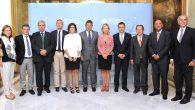 El ministro de Justicia, Rafael Catalá, con los representantes de comunidades autónomas con competencias transferidas