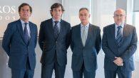 Jaime Olleros, socio director de Olleros Abogados con Alfredo Aspra, Jaime Silva y Antonio Sanfulgencio