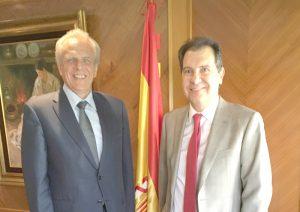 José Manuel García Collantes, Vicepresidente de la CNUE (Consejo de los Notarios de la Unión Europea), y Juan Carlos Martínez Ortega, Presidente de la Asociación UIPAN