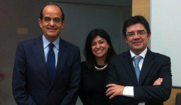 José Luis Piñar, Filipa Calvão y Alexandre Sousa