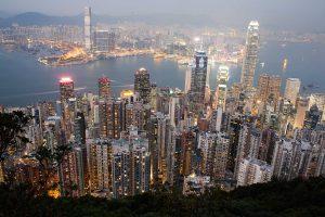 vista del skyline de Honk Kong. La antigua colonia británica es la puerta de entrada para los negocios en China