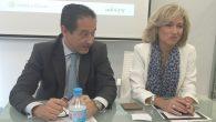 Emilio Martínez, presidente de Inkietos y Rosalina Díaz,presidenta de Wolters Kluwer en España