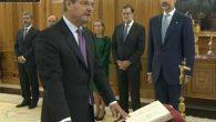 Rafael Catalá Polo jurando su cargo de Ministro de Justicia