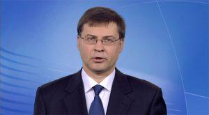 Valdis Dombrovskis, vicepresidente de la Comisión Europea de Estabilidad Financiera y Diálogo Social