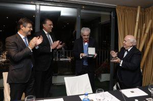 Ministro de Justicia, Rafael Catalá, José Antonio Silva e Sousa, Juan Antonio Cremades y Luis Martín Mingarro (presidente del jurado)