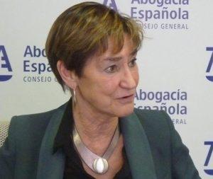 La presidenta del Consejo General de la Abogacía Española, Victoria Ortega