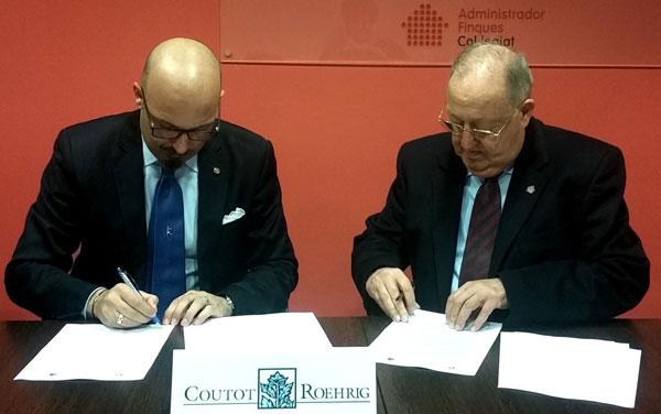 El colegio de administradores de fincas de girona firma un acuerdo con coutot roehrig - Colegio de administradores de fincas barcelona ...