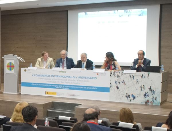 Francisco Ruiz Antón, Juan Carlos Domínguez Nafría, Juan José González Rivas, Mar España y José Luis Piñar