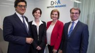 Ivo Portabales (socio director de Dutilh Abogados) y los tres nuevos socios de Dutilh Abogados: Maite Vázquez, Cristina Vázquez y Ángel Chavarría