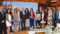 La secretaria de Estado de Justicia, Carmen Sánchez-Cortés, junto a los integrantes del Programa Bellevue de intercambio de funcionarios