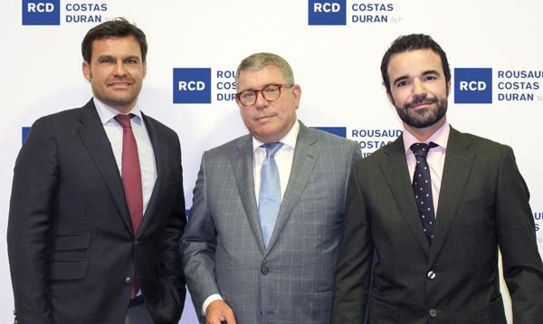 Borja de Gabriel, Adolf Rousaud, socio director de RCD y Ricardo Pla.