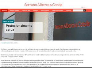 Web de Serrano Alberca & Conde