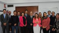 Alumnos asistentes al curso junto con José María García Gutiérrez, Presidente de la Asociación (en el centro)