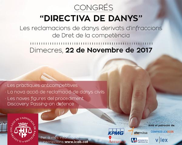 Directiva de Daños: Las nuevas reclamaciones de daños derivados de infracciones de Derecho de la Competencia