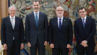 Félipe VI recibe a los presidentes del notariado mundial, europeo y español