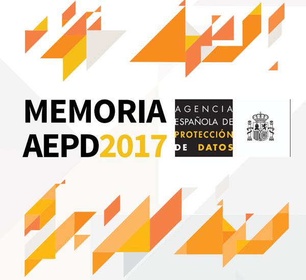 Memoria AEPD 2017