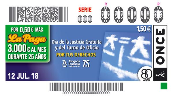 CUPON ONCE Día de la justicia Gratuita
