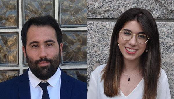 Rubén González Rodríguez y Lidia Gil Otero premio Jóvenes Laboralistas de FORELAB