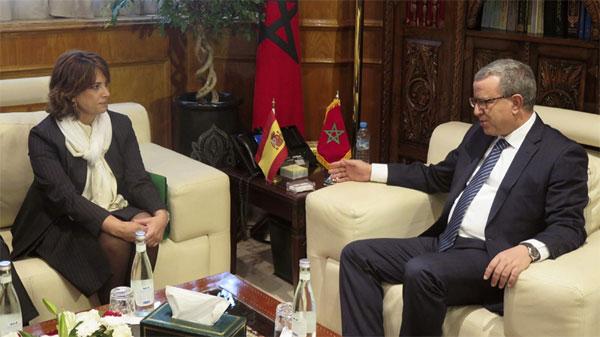 La ministra de Justicia, Dolores Delgado, se ha reunido esta mañana con su homólogo marroquí, Mohammed Aujjar