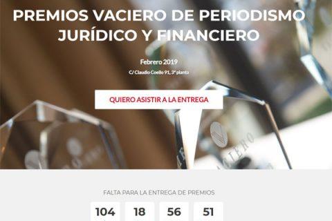 II Premios VACIERO de Periodismo Jurídico y Financiero