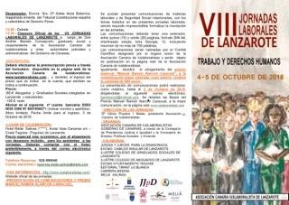 VIII Jornadas Laborales de Lanzarote 4 y 5 octubre, 2018
