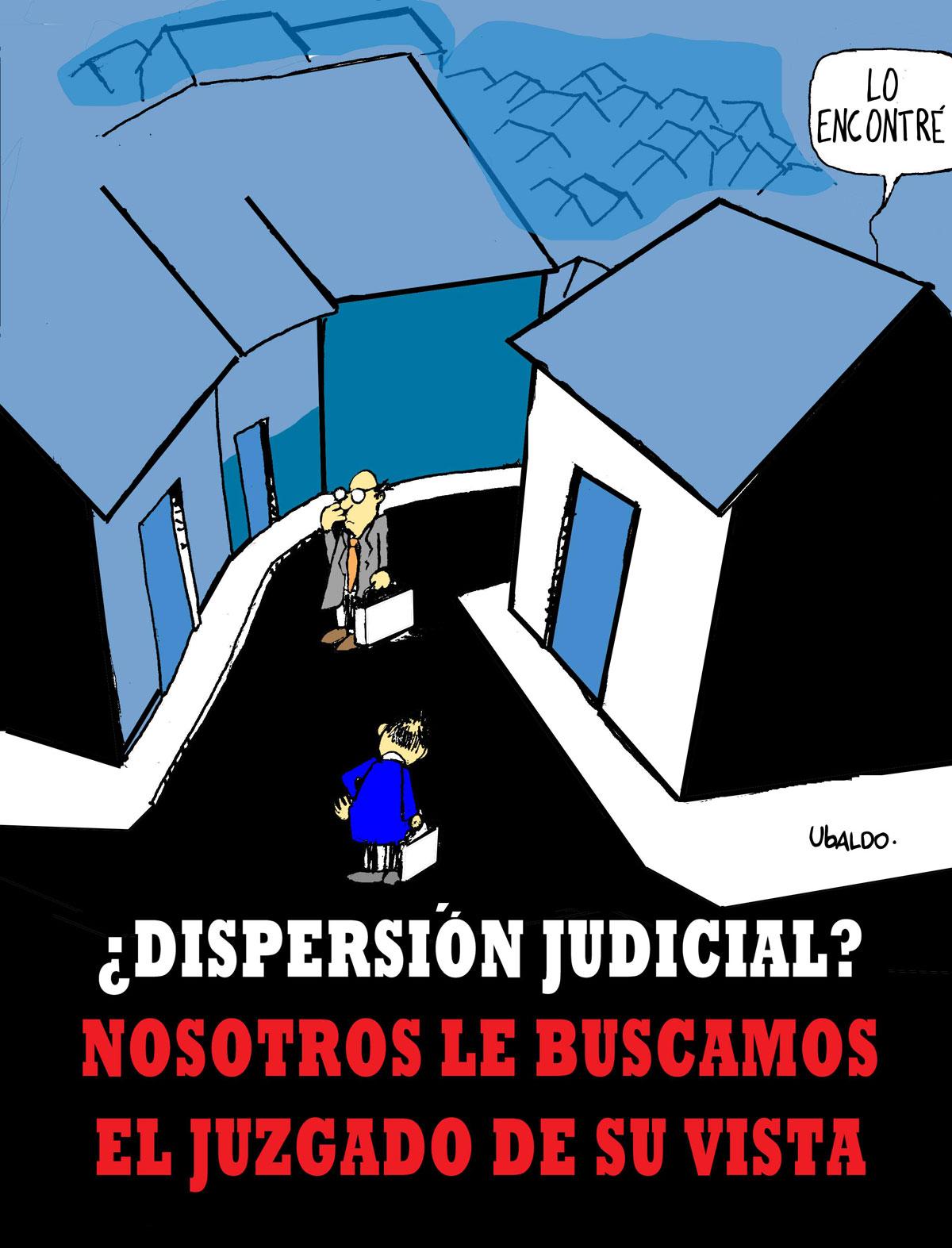 Ubaldo - dispersión judicial