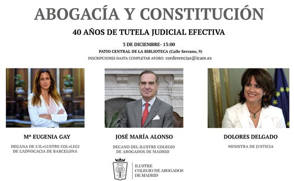 ICAM e ICAB unidas para conmemorar el 40 aniversario de la Constitución