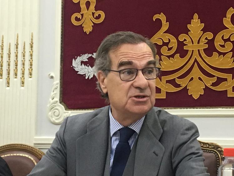 El decano del ICAM, José María Alonso, en rueda de prensa