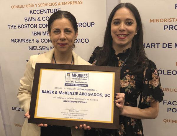 Baker McKenzie reconocida como líder en inclusión LGBT en México