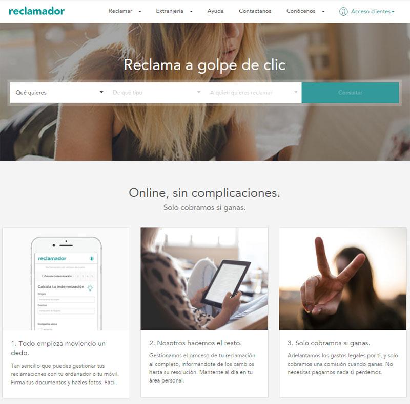 web reclamador.es