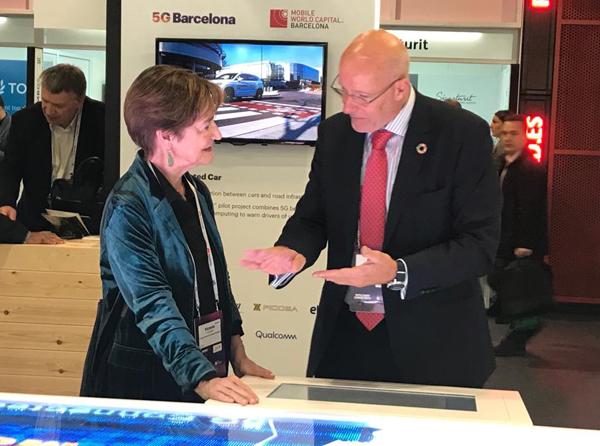 Victoria Ortega visita el MWC19 Barcelona