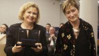 La decana del Colegio de Registradores de España, María Emilia Adán y Victoria Ortega, presidenta del Consejo General de la Abogacía Española