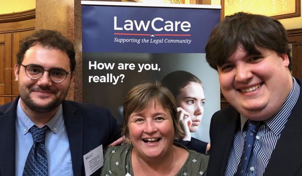 Con Elizabeth Rimmer, CEO de LawCare, durante la Conferencia Anual de la Junior Lawyers Division en Londres