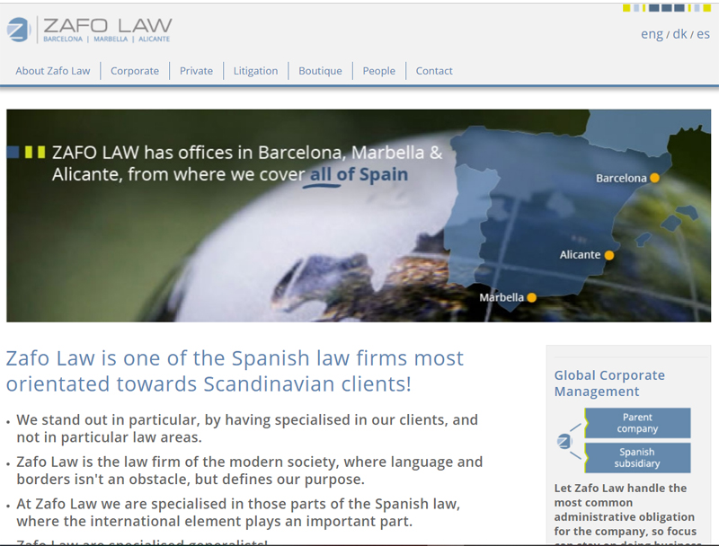 Zafo Law web